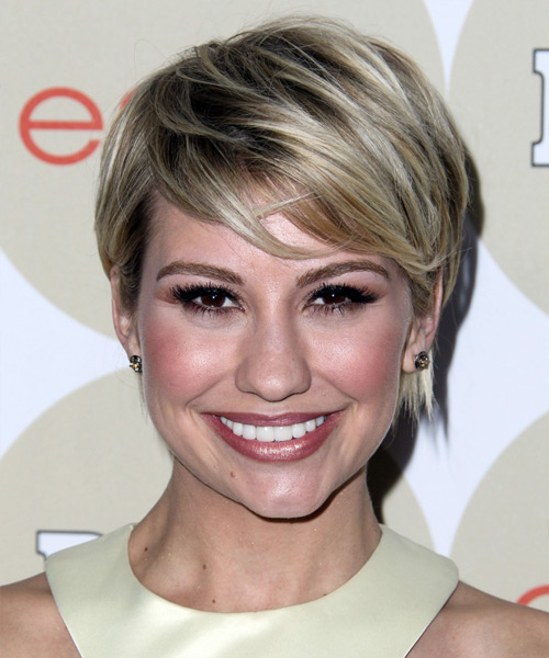 Chelsea Kane Short Straight     Hairstyle with Side Swept Bangs