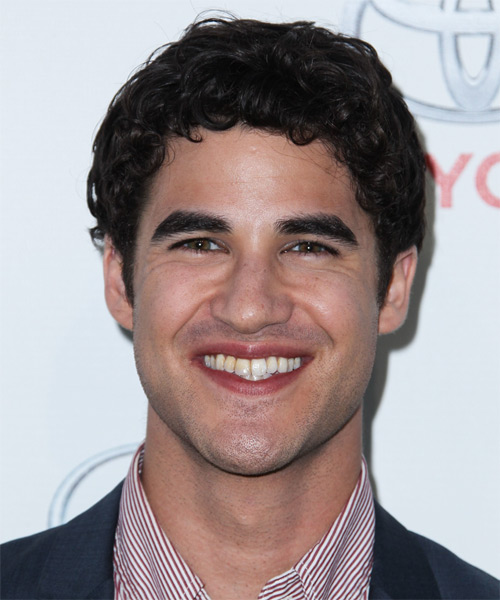 Darren Criss Short Curly Casual   Hairstyle   (Mocha)