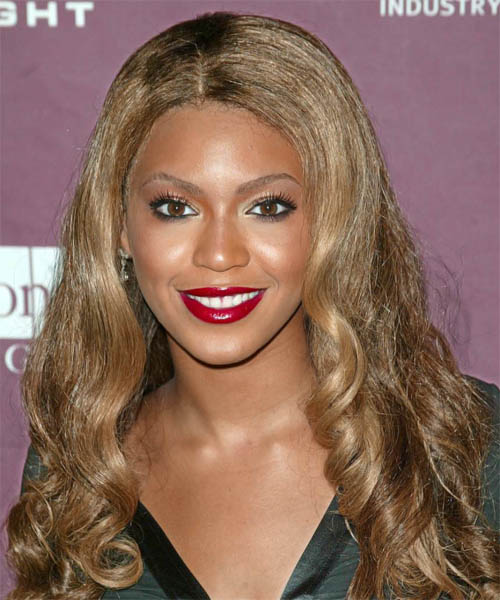Beyonce Knowles Long Wavy Formal Hairstyle
