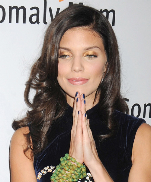 AnnaLynne McCord Long Wavy Formal   Hairstyle   - Dark Brunette