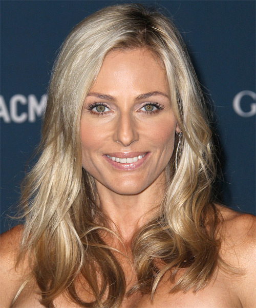 Jamie Tisch Long Straight Casual    Hairstyle   -  Champagne Blonde Hair Color