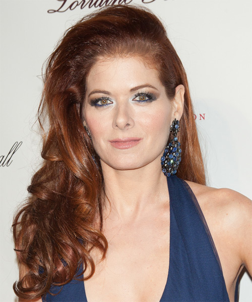Debra Messing Long Wavy Formal    Hairstyle   -  Red Hair Color