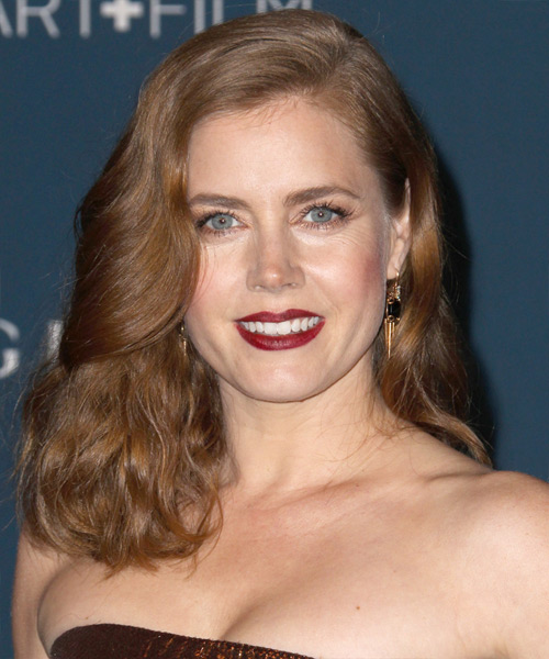 Amy Adams Medium Straight Formal   Hairstyle   - Light Brunette (Chestnut)