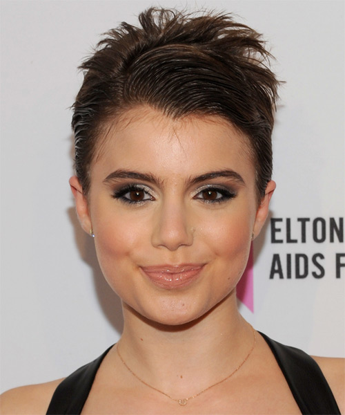 Sami Gayle Short Straight Formal   Hairstyle   - Medium Brunette