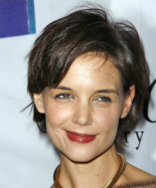 Katie Holmes Short Straight Casual   Hairstyle