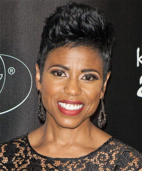 Jacque Reid Short Straight Casual    Hairstyle   - Black  Hair Color
