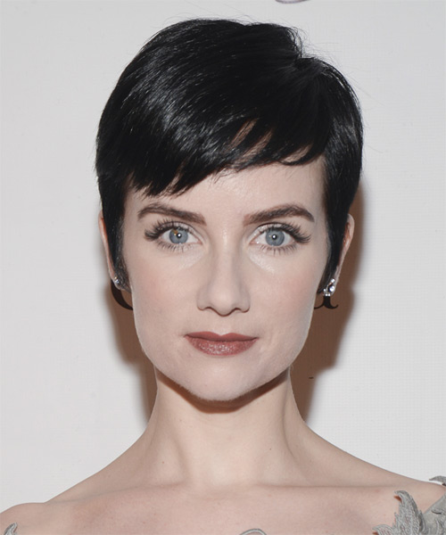 Victoria Summer Short Straight Formal Pixie  Hairstyle with Side Swept Bangs