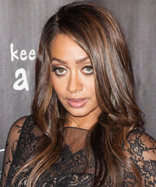 La La Anthony Long Straight Formal    Hairstyle   -  Chocolate Brunette Hair Color
