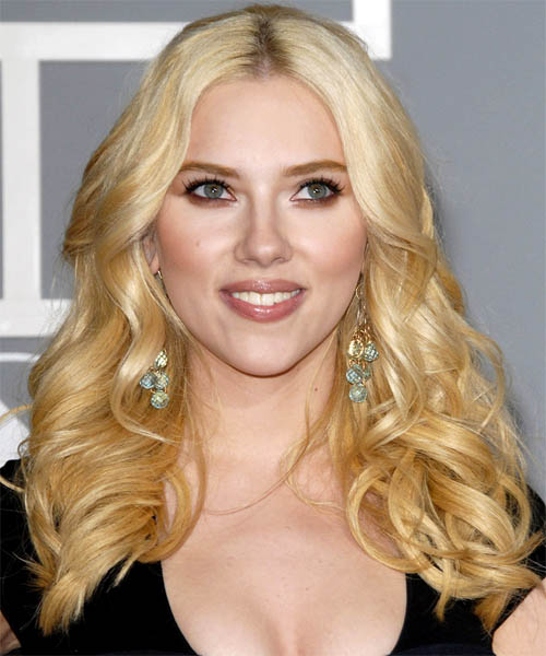 Scarlett Johansson Long Wavy Formal   Hairstyle