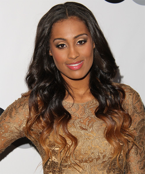 Skylar Diggins Long Wavy Casual   Hairstyle   - Dark Brunette