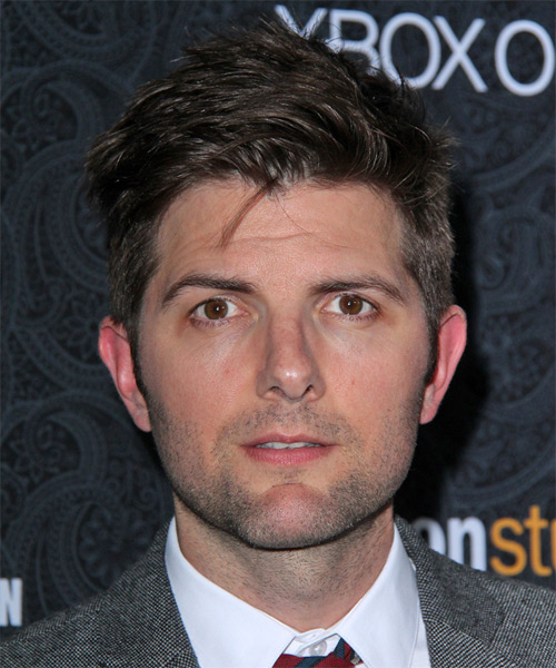 Adam Scott Short Straight Casual   Hairstyle   - Dark Brunette