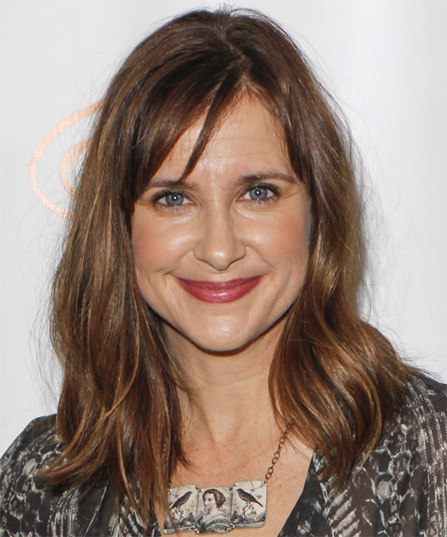 Kellie Martin Medium Straight Brunette Hairstyle With Dark