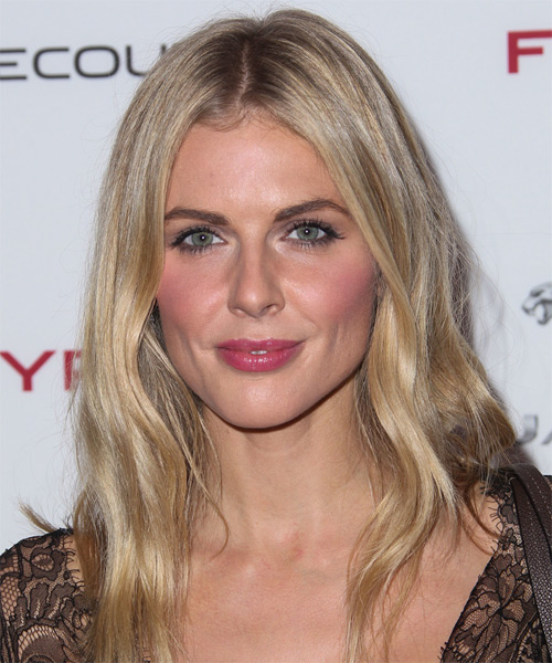 Donna Air Long Straight    Champagne Blonde   Hairstyle   with Light Blonde Highlights