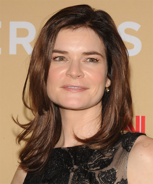 Betsy Brandt Long Straight Casual    Hairstyle   -  Brunette Hair Color