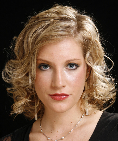 Long Curly Formal   Hairstyle   - Dark Blonde