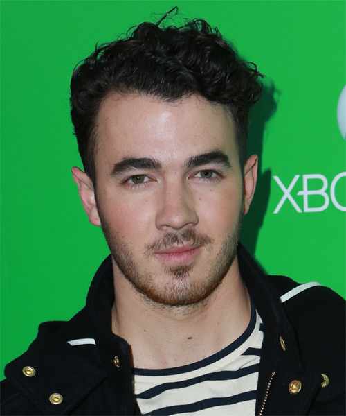 Kevin Jonas Short Wavy Casual   Hairstyle   - Black