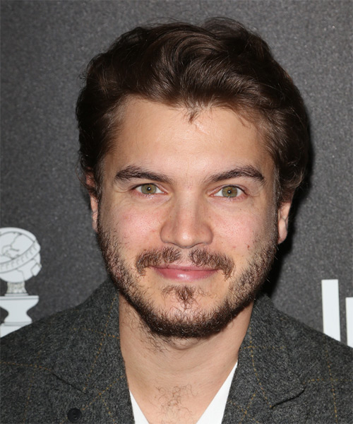 Emile Hirsch Short Straight Formal   Hairstyle   - Medium Brunette (Chocolate)