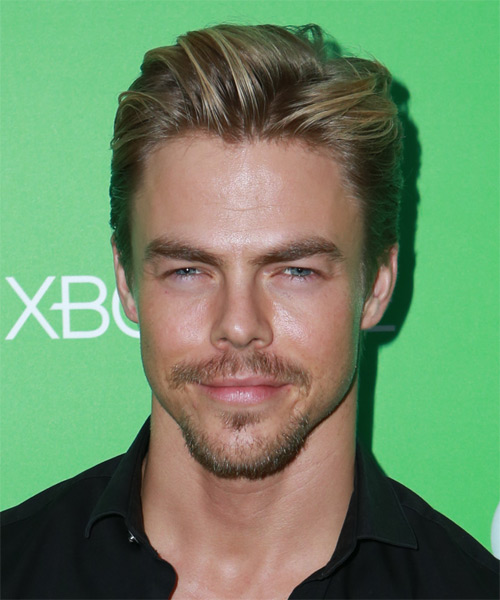 Derek Hough Short Straight Dark Blonde Hairstyle With Light