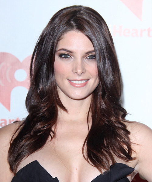 Ashley Greene Long Straight Casual    Hairstyle   - Medium Chocolate Brunette Hair Color