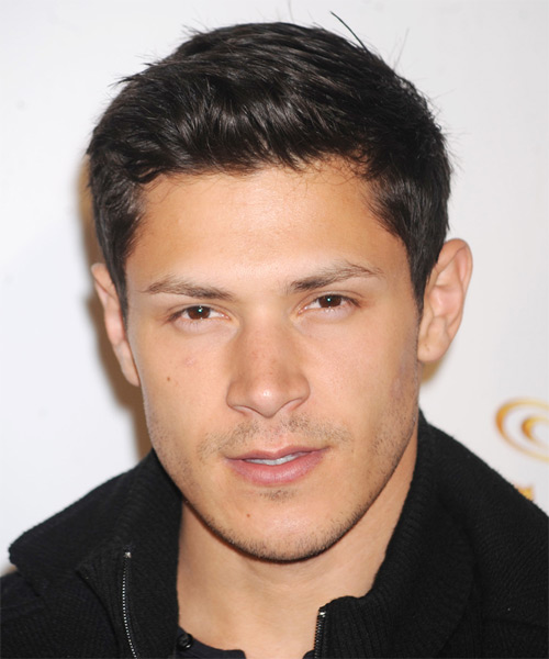 Alex Meraz Short Straight Casual    Hairstyle   - Black  Hair Color