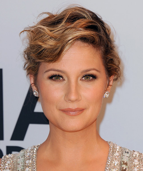 Jennifer Nettles Short Wavy Formal   Hairstyle   - Dark Blonde (Copper)