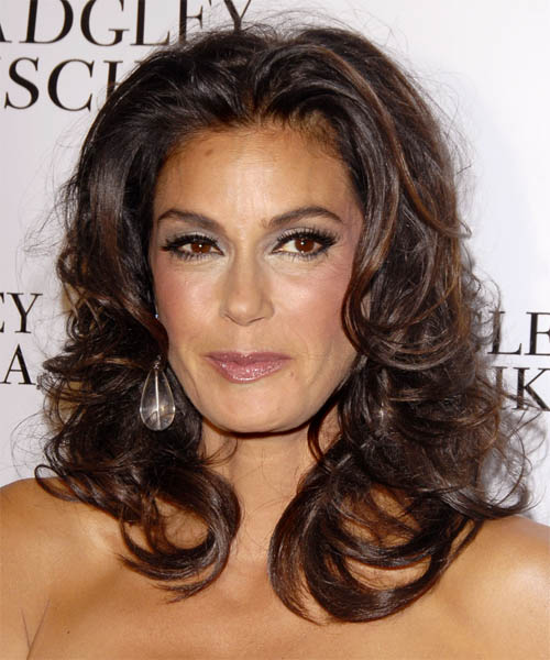 Teri Hatcher Long Curly Formal    Hairstyle