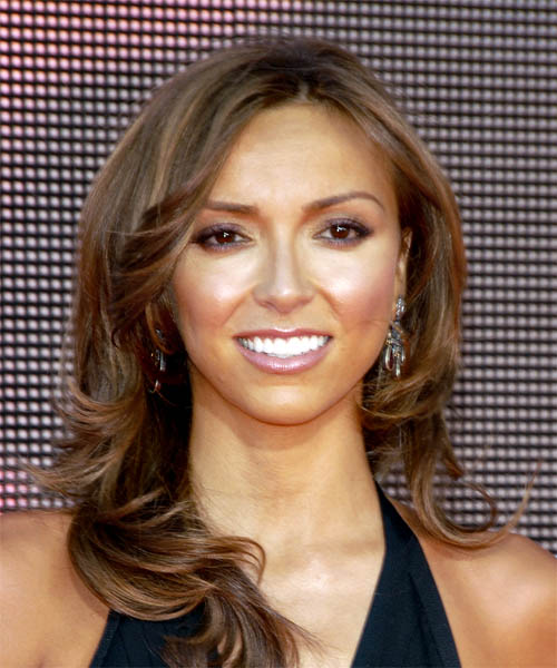Giuliana DePandi Long Wavy Formal   Hairstyle