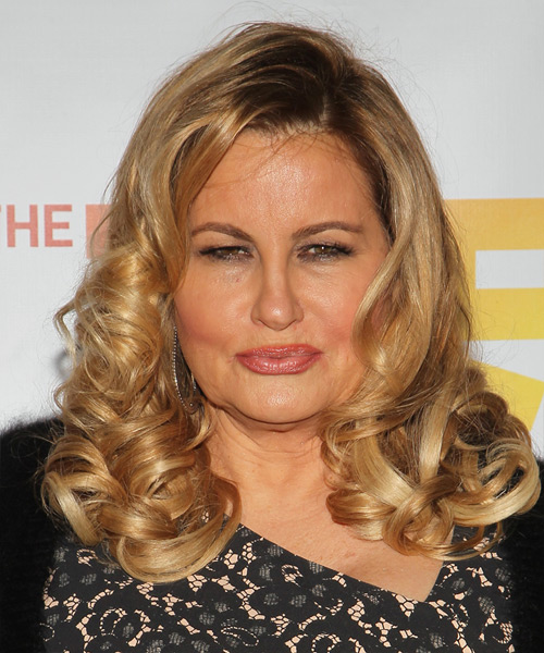 Jennifer Coolidge Long Curly Formal   Hairstyle   - Dark Blonde