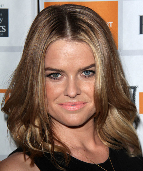 Alice Eve Medium Straight Casual   Hairstyle   - Light Brunette (Caramel)