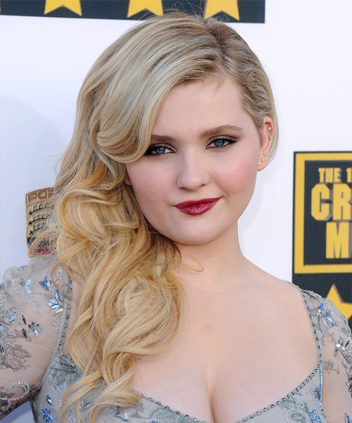 Abigail Breslin Long Wavy Formal   Hairstyle   - Light Blonde (Ash)