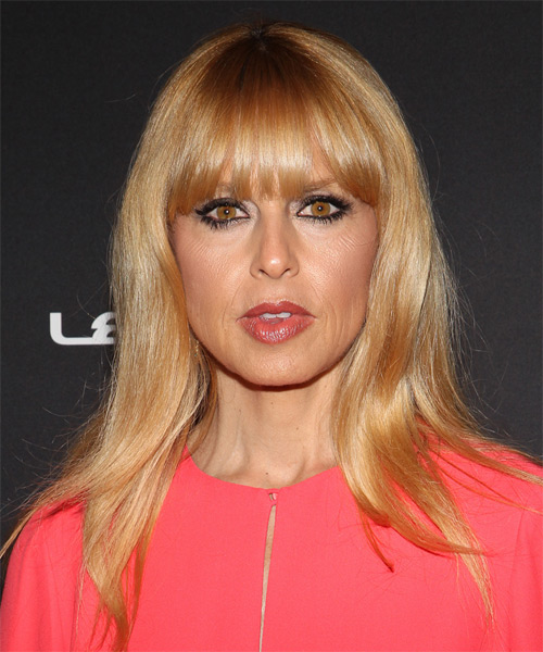 Rachel Zoe Long Straight Casual   Hairstyle with Blunt Cut Bangs  - Medium Blonde (Honey)