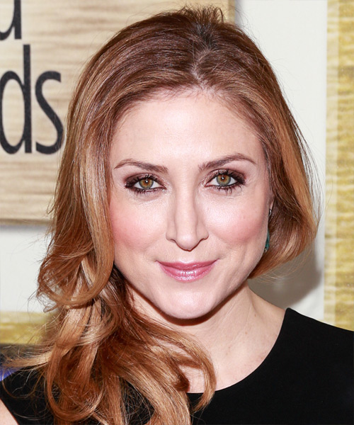 Sasha Alexander Long Wavy Formal   Hairstyle   - Medium Brunette (Chestnut)