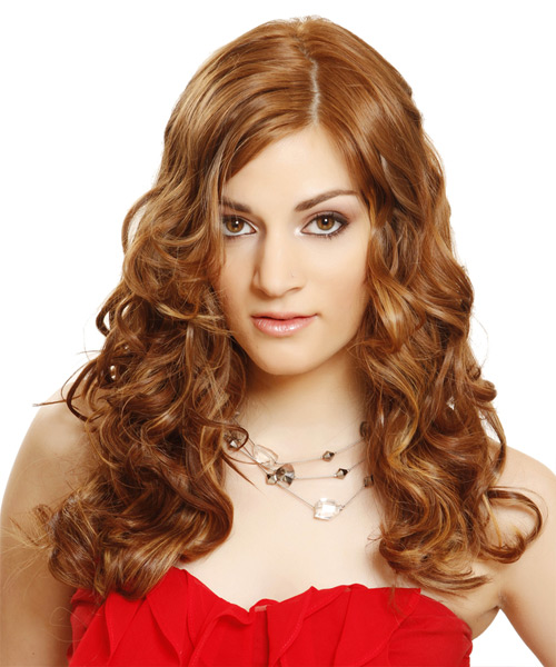 Long Wavy Formal   Hairstyle   - Medium Brunette (Auburn)