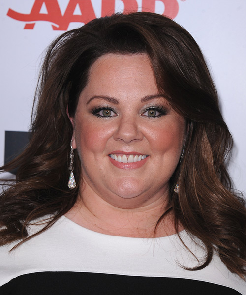 Melissa McCarthy Long Straight Casual   Hairstyle   - Dark Brunette (Mocha)