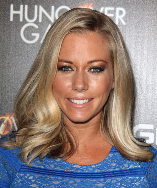 Kendra Wilkinson Medium Straight Formal    Hairstyle   - Dark Ash Blonde Hair Color with Light Blonde Highlights