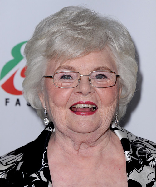 June Squibb Short Straight Formal   Hairstyle   - Light Grey