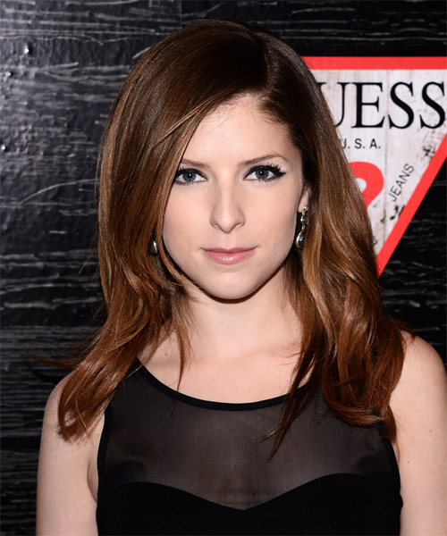 Anna Kendrick Long Straight Formal   Hairstyle   - Medium Brunette