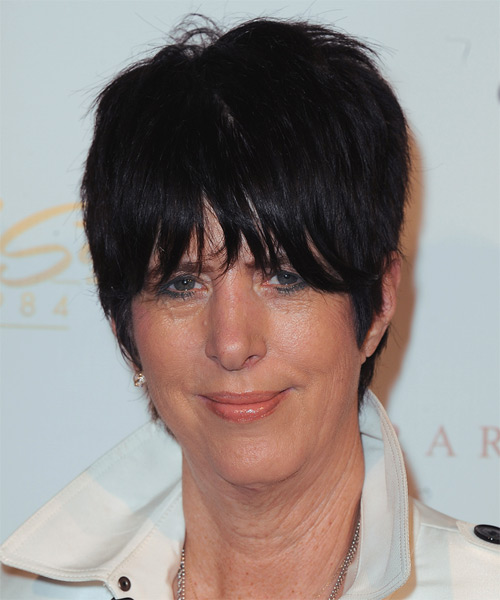 Diane Warren Short Straight Casual    Hairstyle   - Black  Hair Color