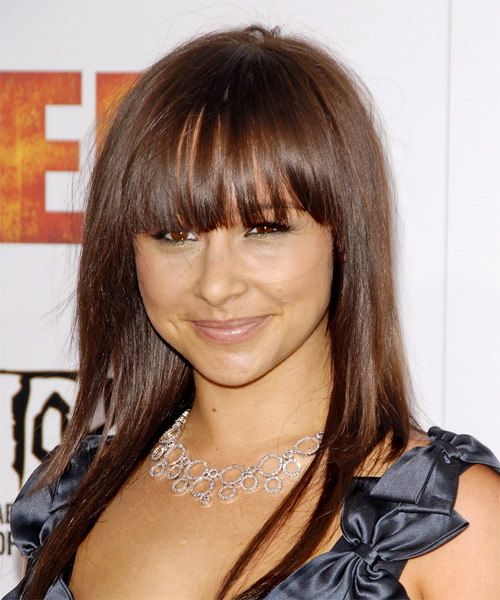 Danielle Harris Long Straight Casual   Hairstyle