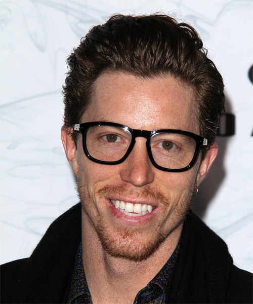 Shaun White Casual Short Straight Hairstyle Dark