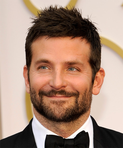 Bradley Cooper Short Straight Casual    Hairstyle   - Dark Brunette Hair Color