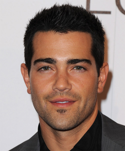 Jesse Metcalfe Short Straight Casual   Hairstyle   - Black