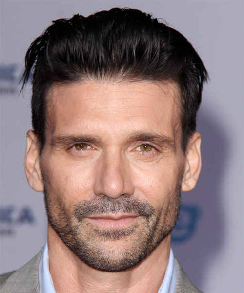 Frank Grillo Short Straight   Black    Hairstyle