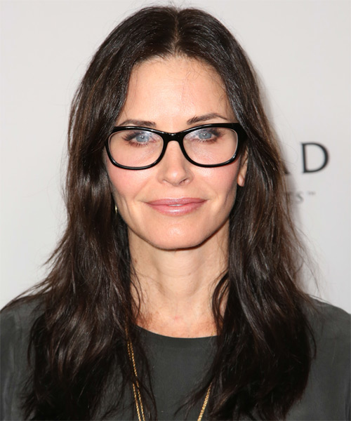 Courteney Cox Long Straight Casual    Hairstyle   - Dark Brunette Hair Color