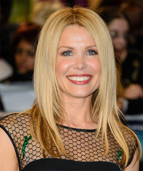 Melinda Messenger Long Straight Formal   Hairstyle   - Light Blonde