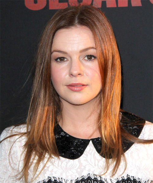 Amber Tamblyn Long Straight Casual   Hairstyle   - Medium Red