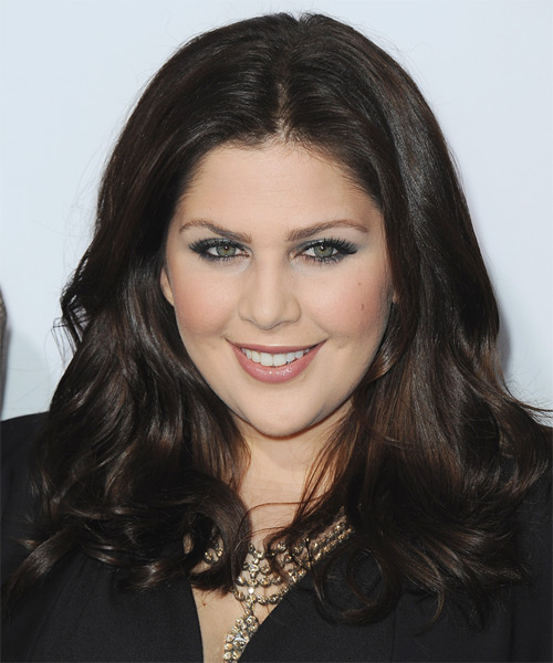 Hillary Scott Long Straight Formal   Hairstyle   - Dark Brunette