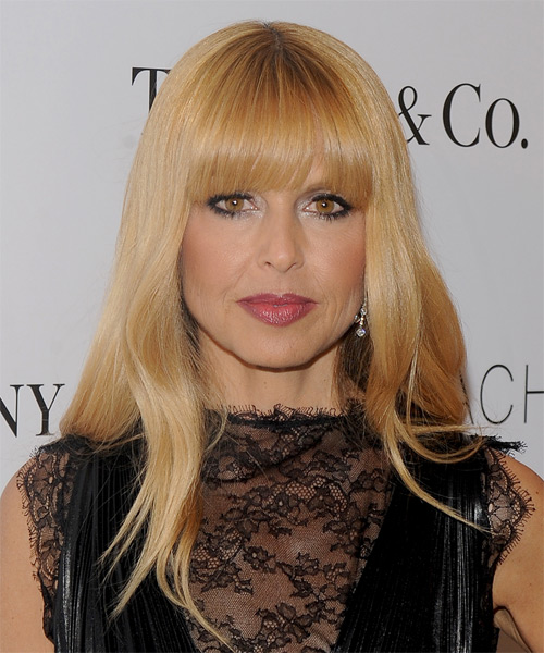 Rachel Zoe Long Straight Formal   Hairstyle with Blunt Cut Bangs  - Medium Blonde (Copper)