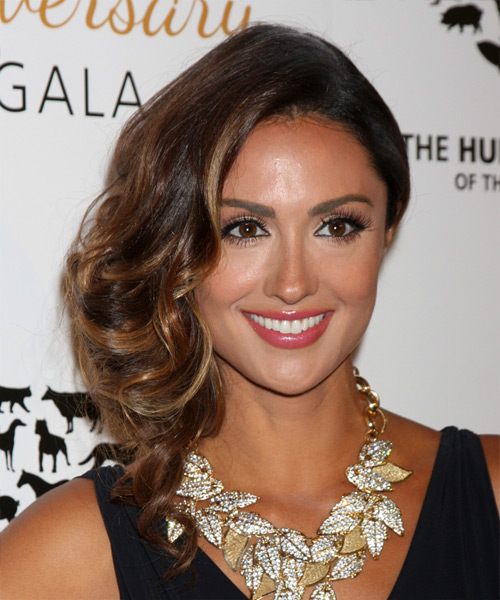 Katie Cleary Long Wavy Formal   Hairstyle   - Medium Brunette (Caramel)