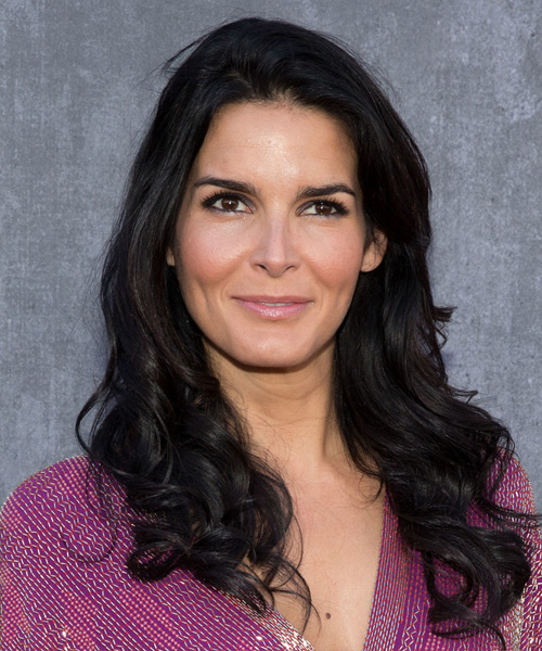 Angie Harmon Long Wavy Casual Hairstyle Black Hair Color